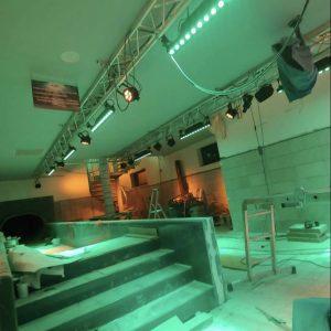 Effektbeleuchtung im gesamten Rutschenhaus (Sound & Light)