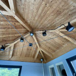Effektbeleuchtung im Rutschenturm (Sound & Light)